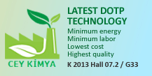 Latest DOTP Technology Minimum energy Minimum labor Lowest cost Highest quality K 2013 Hall 07.2 / G33